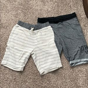 2 summer sweat shorts one both XL youth